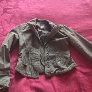 Olive / Army green lightweight fitted jacket